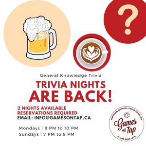 Trivia Night is back!