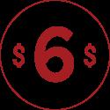 $6 Game Play Fee